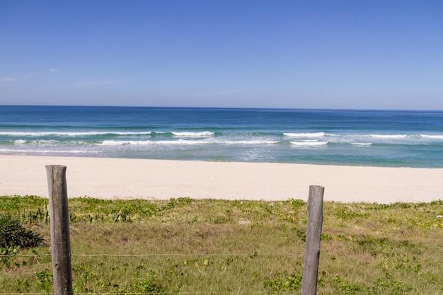 리오 데 자네이로, 브라질에서 barra da tijuca 해변의 전망.