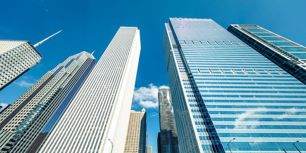 アメリカ、シカゴの建物の眺め