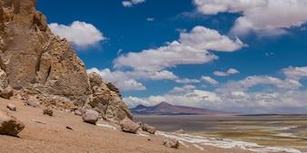 View of cathedral rock, Tara Salt Flat, Salar de Atacama, San Pedro de Atacama, El Loa Province, Ant