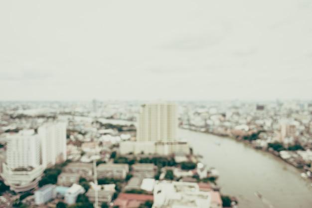 焦点の定まらない効果を持つ都市のビュー