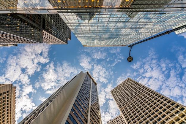 홍콩 중부 상업 건물의 전망