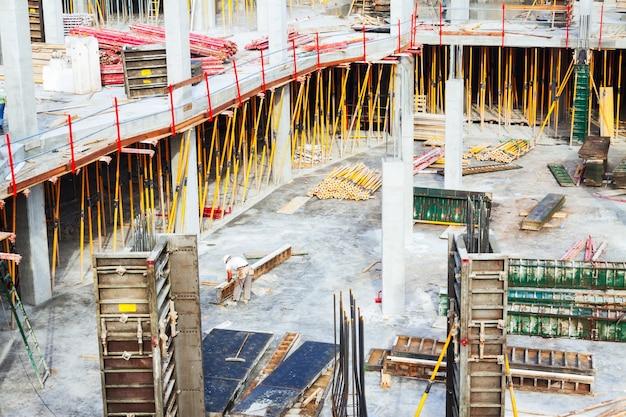 建設作業現場の眺め