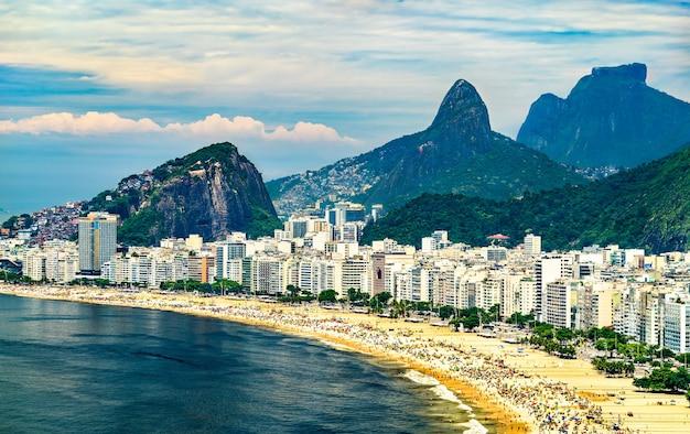 ブラジル、リオデジャネイロのコパカバーナの眺め