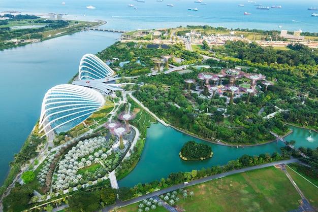 싱가포르에서 베이 정원보기