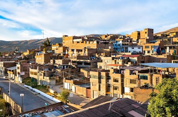 해질녘 페루의 huancayo의 보기