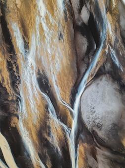 Вид на поток исландской ледниковой реки