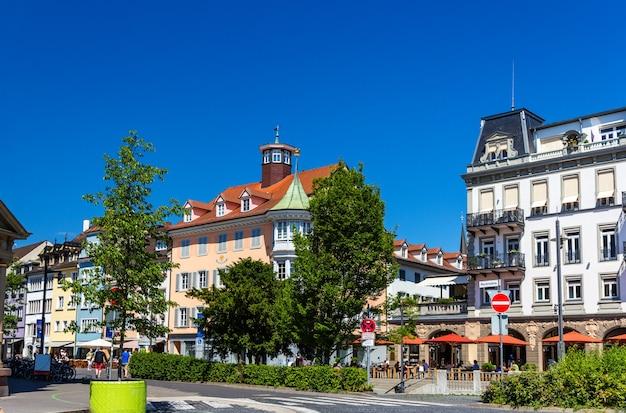 コンスタンツ市内中心部の眺め-ドイツ