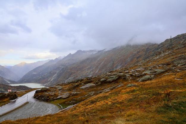 스위스에서 자연과 환경에서 풍경 산의보기