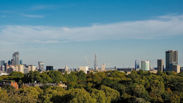 Вид на горизонт лондона
