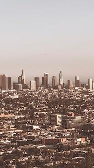 ロサンゼルス市の携帯電話の壁紙のビュー Premium写真