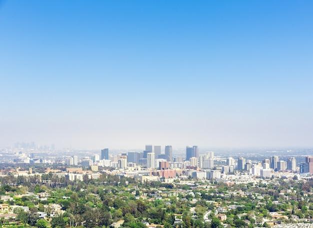 Вид на город лос-анджелес