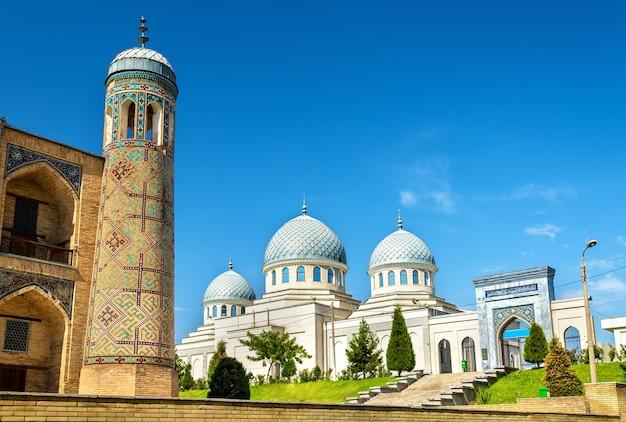 Вид средневековой мечети джума в ташкенте, узбекистан