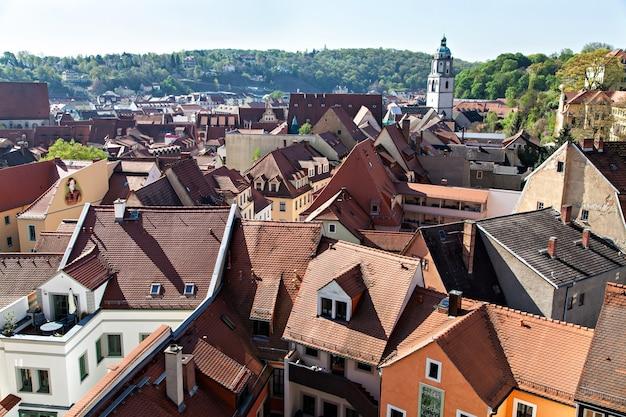 ドイツのマイセンの眺め