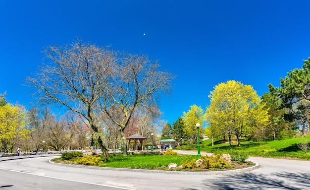 Вид на государственный парк ниагара-фолс в нью-йорке, сша