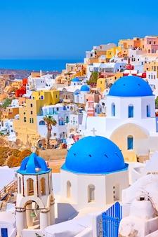 그리스 산토리니(santorini)의 이아(oia) 마을 전망 - 그리스 풍경