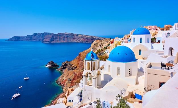 그리스 산토리니 섬의 이아 마을 전망 - 그리스 풍경