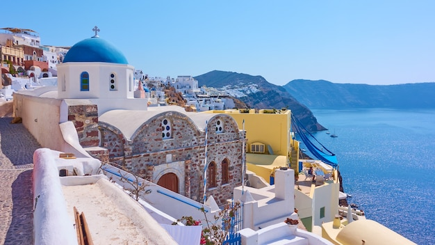 그리스 산토리니(santorini) 섬의 이아(oia) 마을 전망, 그리스 - 그리스 풍경