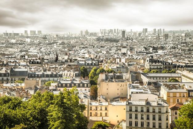Вид на париж с монмартра