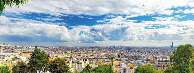 モンマルトルの丘からのパリの眺め。パリ。フランス