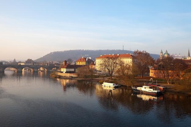 プラハの景色。チェコ共和国
