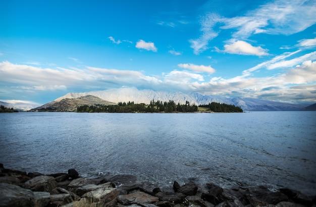 Вид куинстауна новая зеландия