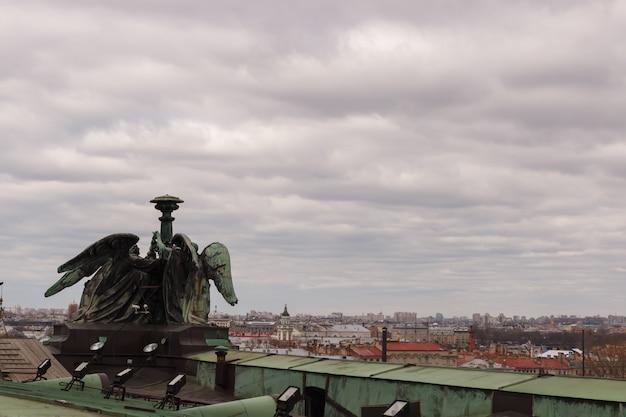 이삭 대성당 옥상에서 바라본 상트페테르부르크