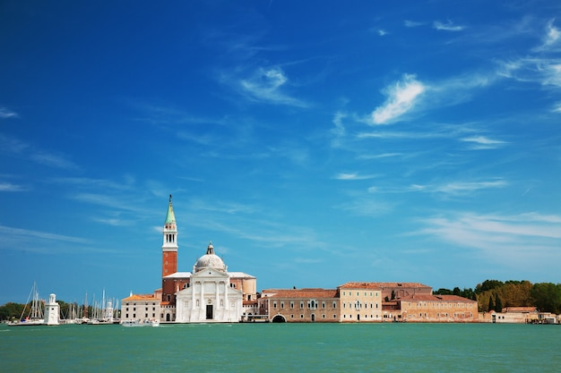 Вид на остров сан-джорджо, венеция, италия