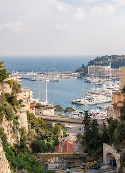 モナコの港の眺め