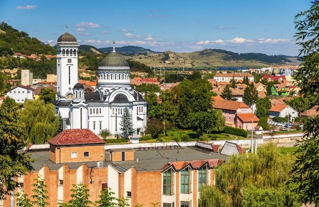 루마니아 트란실바니아 마을시기 쇼 아라의 전망