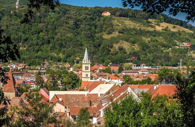 루마니아 sighisoara 마을의보기