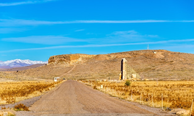Pasargadae-이란의 솔로몬 언덕의 전망