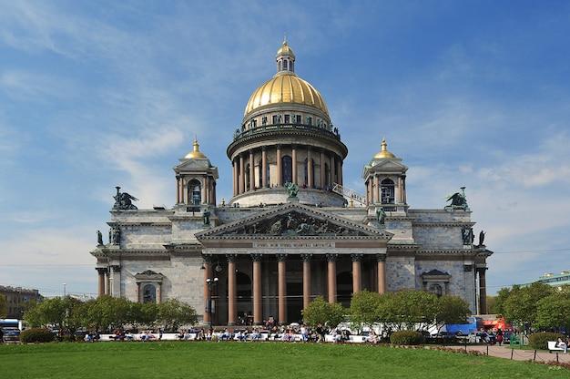 サンクトペテルブルクの聖イサアク大聖堂の眺め