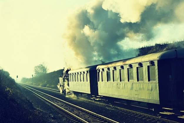 &quot;鉄道の蒸気列車の眺め&quot;
