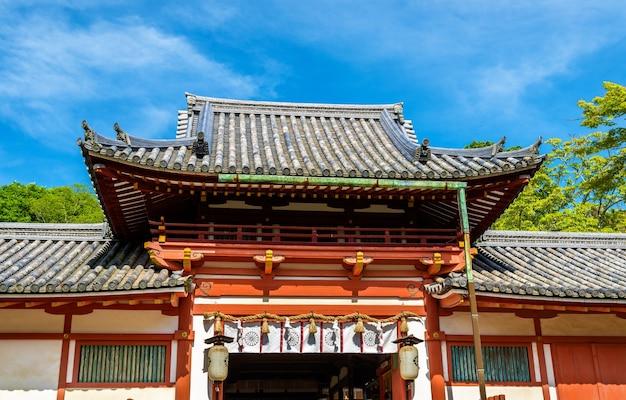 나라, 일본의 tamukeyama hachimangu 신사의 전망