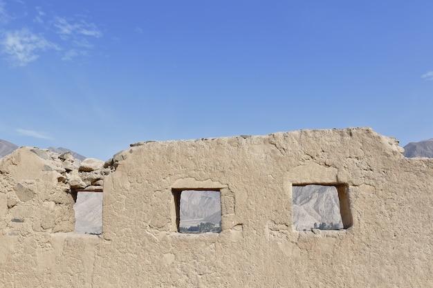 ワイカン遺跡の古代遺跡の眺め