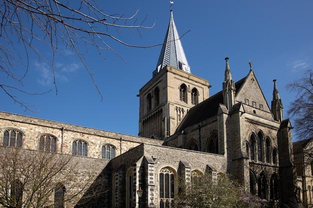 2019年3月24日のロチェスターの大聖堂の眺め