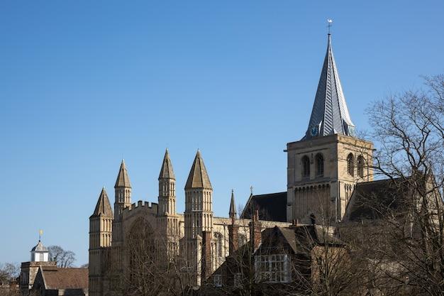ロチェスターの大聖堂の眺め