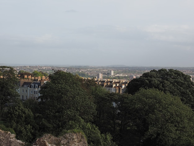 Вид на город бристоль