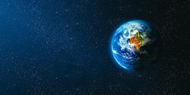 Вид на землю с луны. элементы этого изображения, предоставленные наса