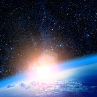Вид на землю с луны. элементы этого изображения предоставлены наса