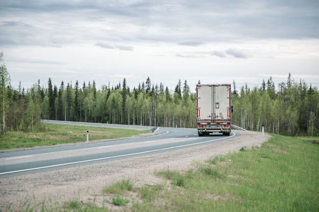 森の中の高速道路の眺め