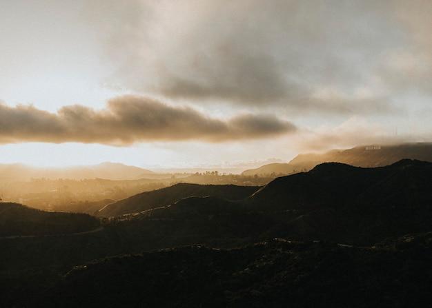 Вид на холмы в калифорнии