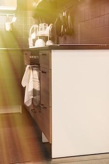 家庭の台所の眺め