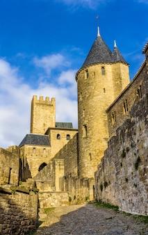 カルカソンヌの中世の街の眺め-フランス