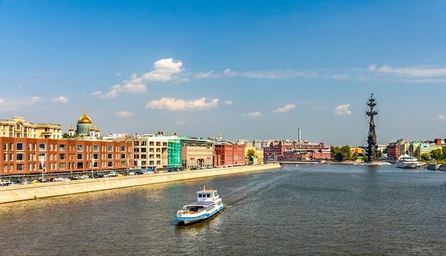 모스크바에서 모스크바 강의 전망. 러시아의 수도