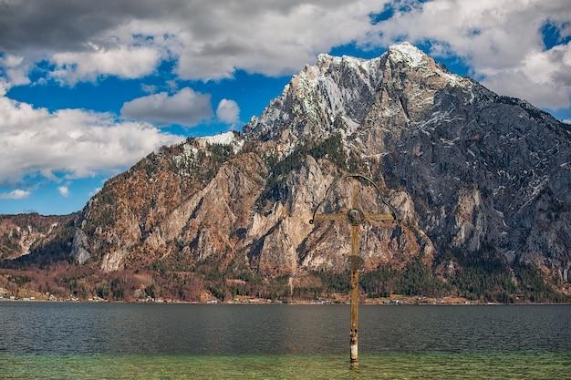 アルプスの山々と湖の眺め