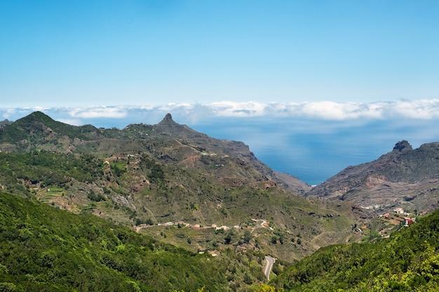 테 네리 페 산맥의 전망. 카나리아 제도, 스페인