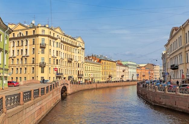 Вид на реку мойку, санкт-петербург, россия