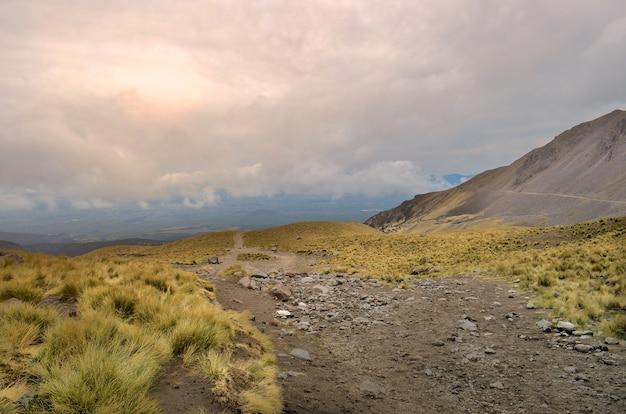 メキシコの不活発な火山、ネバドデトルカの眺め。