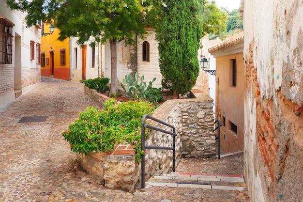 旧市街、グラナダ、アンダルシア、スペインの眺め